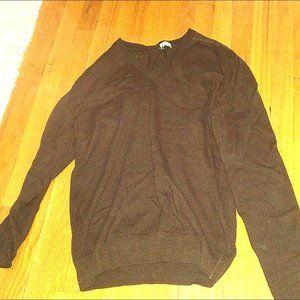 Joseph Horne Men's 100% Cashmere Sweater Brown S-M